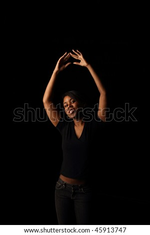 Dance, low key - stock photo