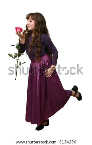 Dance with rose. - stock photo