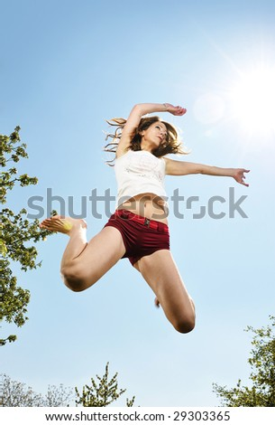 dancer jumping - stock photo