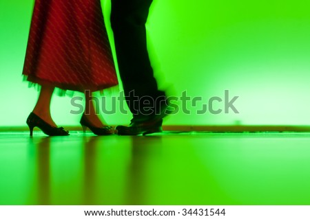 dancing couple - stock photo