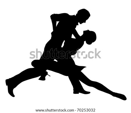 Dancing couple (also available vector version) - stock photo