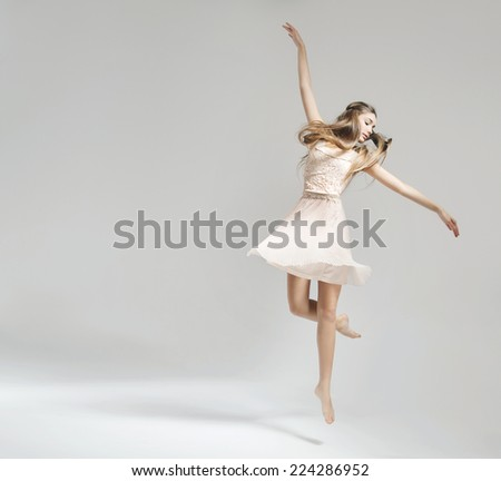 Dancing girl - stock photo