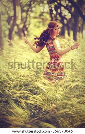 dancing girl - stock photo