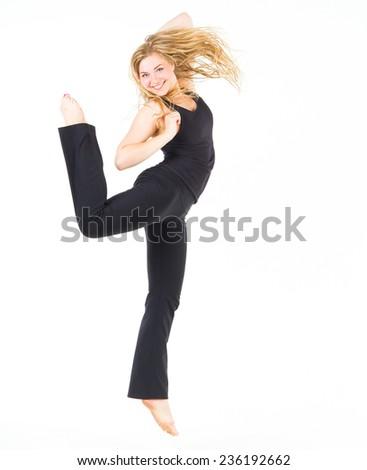 Dancing Girl Ballet Model  - stock photo