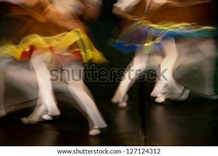 Dancing legs - stock photo