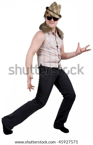 dancing man in hat