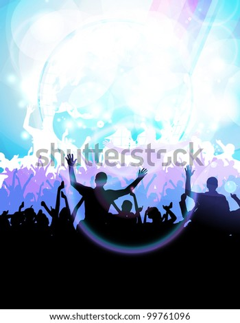 Dancing people - stock photo