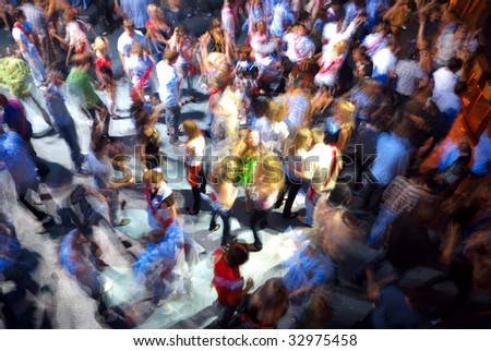 Dancing people. Element of design. - stock photo