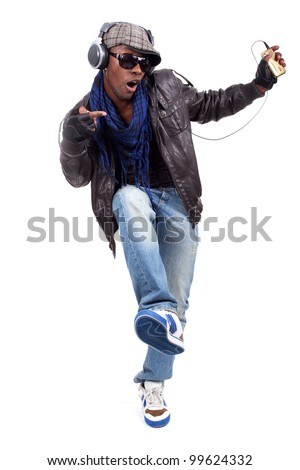 Dancing to the beat - stock photo