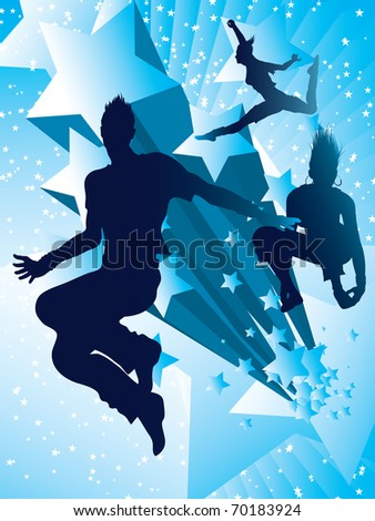 Dancing with the stars  (also available vector version) - stock photo