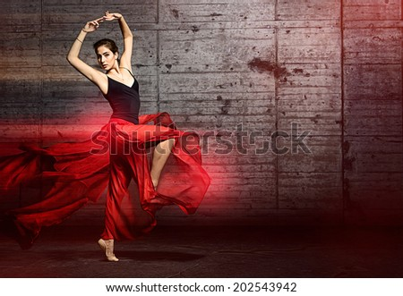 Dancing Woman - stock photo