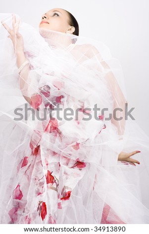 Dancing woman and elegance motion