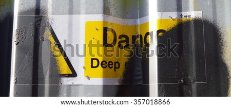 Danger - stock photo