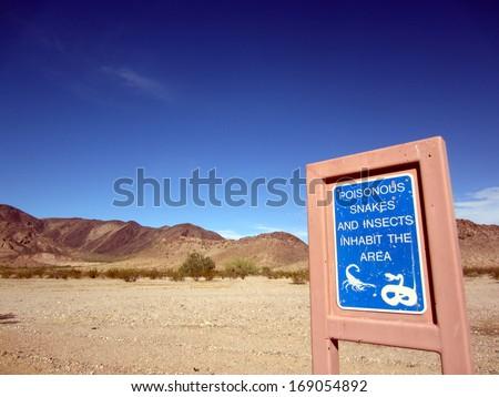 Danger in the desert - stock photo