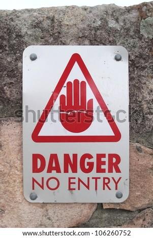 Danger No Entry sign - stock photo