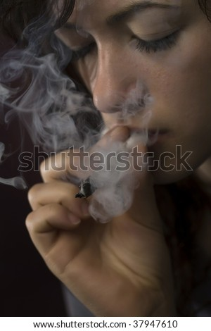 Danger of drugs - stock photo