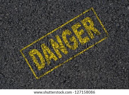 Danger sign background - stock photo