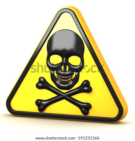 danger sign on a white background - stock photo