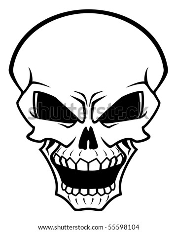 Danger skull as a warning - also as emblem. Vector version also available in gallery - stock photo