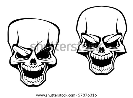 Danger skull as a warning or evil concept - also as emblem. Vector version also available in gallery - stock photo