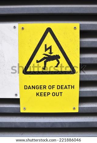 Danger! Voltage!   - stock photo
