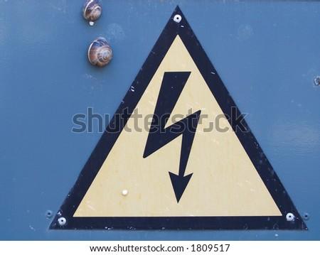 Danger warning - stock photo
