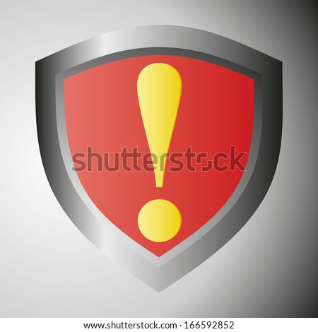 Danger warning sign. Yellow exclamation mark on red. illustration. - stock photo