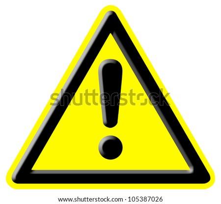danger warning signal - stock photo