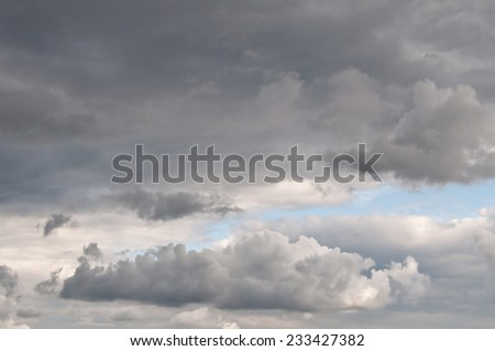 dangerous clouds before the storm - stock photo