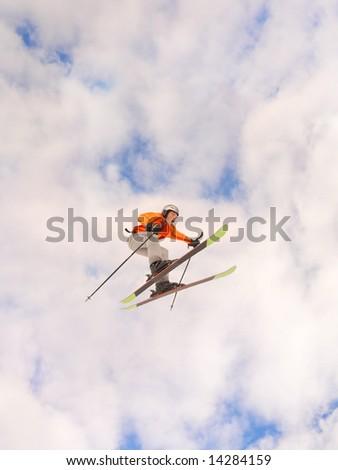 Dangerous jump - stock photo