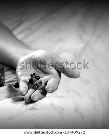 Dangerous overdosing - stock photo