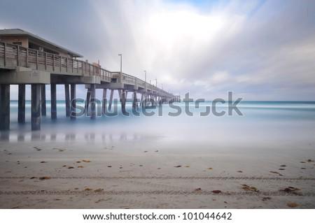 Dania Fishing Pier - stock photo
