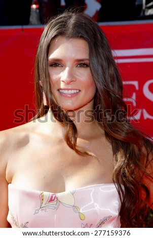 Danica Patrick at the 2012 ESPY Awards held at the Nokia Theatre L.A. Live in Los Angeles on July 11, 2012.