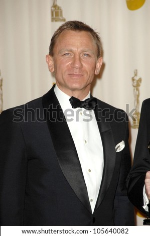 Daniel Craig in the Press Room at the 81st Annual Academy Awards. Kodak Theatre, Hollywood, CA. 02-22-09 - stock photo