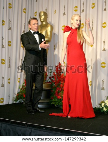 Daniel Craig & Nicole Kidman at the 79th Annual Academy Awards Kodak Theater  Hollywood & Highland Hollywood, CA February 25, 2007 - stock photo