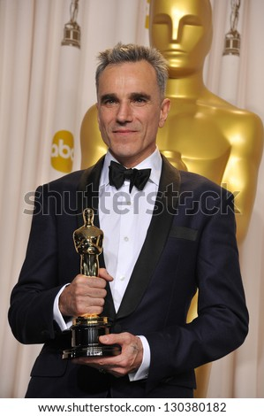 Daniel Day Lewis at the 85th Academy Awards at the Dolby Theatre, Los Angeles. February 24, 2013  Los Angeles, CA Picture: Paul Smith