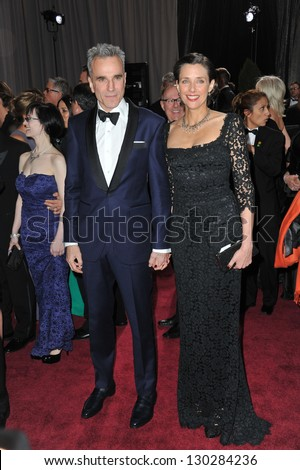 Daniel Day Lewis & Rebecca Miller at the 85th Academy Awards at the Dolby Theatre, Hollywood. February 24, 2013  Los Angeles, CA Picture: Paul Smith - stock photo