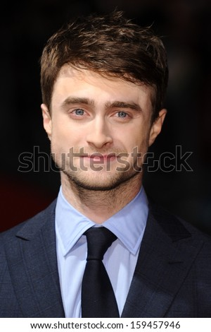 "Daniel Radcliffe arrives for the ""Kill Your Darlings"" premiere as part of the bfi London Film Festival 2013, at the Odeon West End, London.17/10/2013 - stock photo"