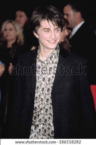 Daniel Radcliffe at HARRY POTTER & THE CHAMBER OF SECRETS, NY 11/10/2002 - stock photo