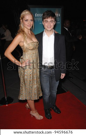 "Daniel Radcliffe & Teresa Palmer at the Los Angeles premiere of their new movie ""December Boys"". September 7, 2007  Los Angeles, CA Picture: Paul Smith / Featureflash"