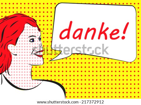 danke - thank you in german - stock photo