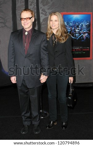 "Danny Elfman and Bridget Fonda at the World Premiere of ""The Nightmare Before Christmas"". El Capitan Theater, Hollywood, CA. 10-16-06"