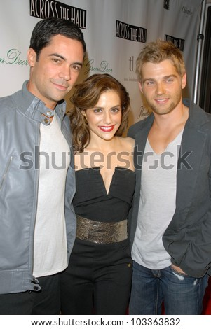 "Danny Pino, Brittany Murphy and Mike Vogel  at the ""Across the Hall"" Premiere, Laemmle's Music Hall, Beverly Hills, CA. 12-01-09"