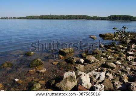 Danube River, Bulgaria, Romania - stock photo