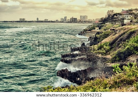 Dar es Salaam Skyline from Peer