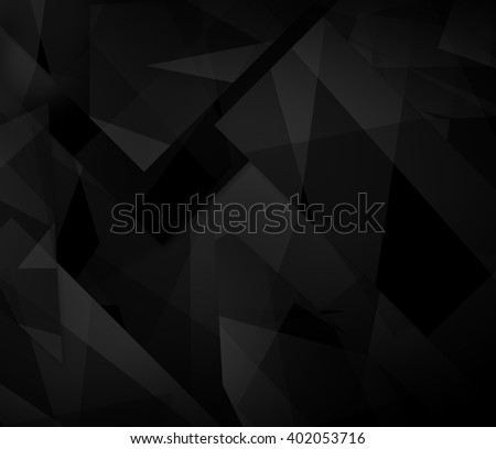 Dark abstract polygonal mosaic background, creative design template - stock photo