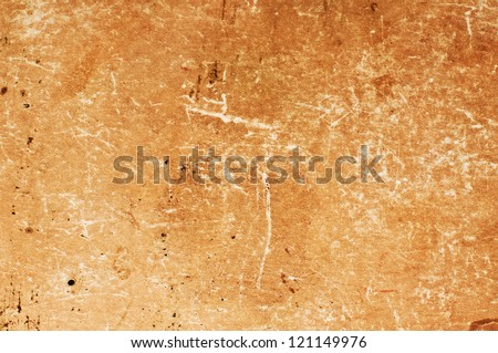 Dark aged yellowed vintage Paper texture background - stock photo