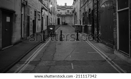 Dark Alleyway Background - stock photo