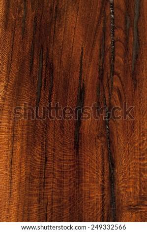 dark almond wood texture vertical - stock photo
