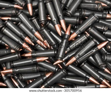Dark ammunition - stock photo